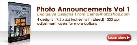 Photo Annoucement Cards Vol 1 Photoshop