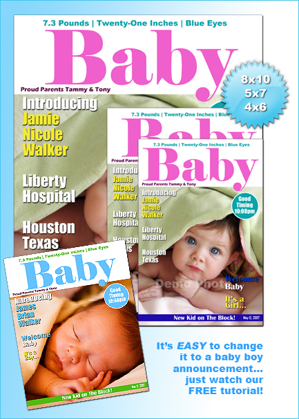 baby magazine cover template photoshop or photoshop
