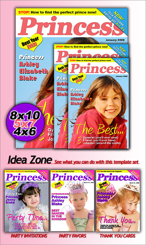 Princess Magazine Invitation