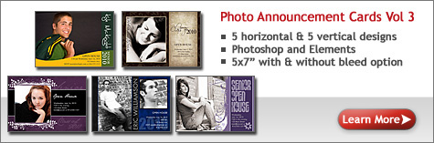 Photo Annoucement Cards Photoshop Vol 2