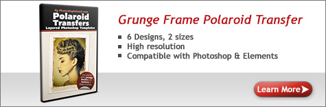 Grunge Frame Polaroid Transfer