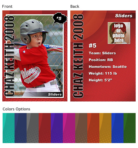 Sports Trading Cards Template Vol