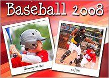 Free baseball template photoshop