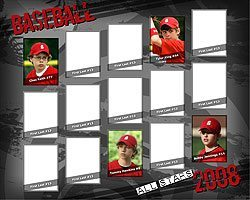 New Team Individual Poster Urban Grunge Theme Photoshop Elements