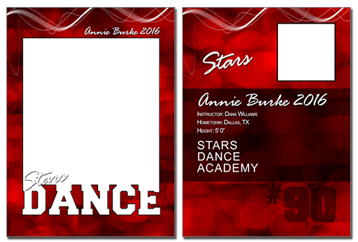 Dance Cutout Trading Card Photoshop & Elements