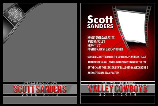 Trading Card Filmstrip Photoshop & Elements