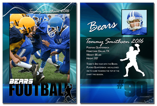 CutouFootball Cutout Trading Card Photoshop & Elements