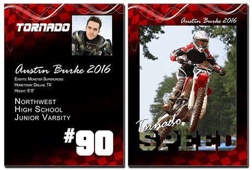 Speed Cutout Trading Card Photoshop & Elements
