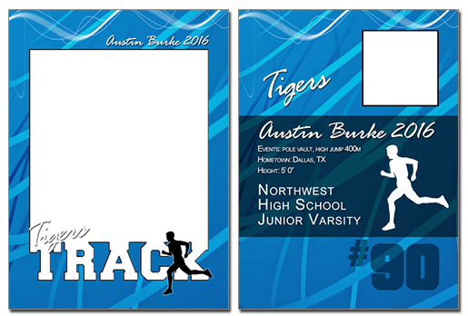 Track Cutout Sports Trading Card Photoshop & Elements