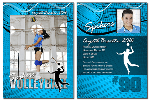 Volleyball Cutout Trading Cards Photoshop & Elements