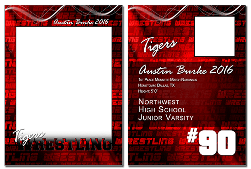 Wrestling Cutout Trading Card Photoshop & Elements