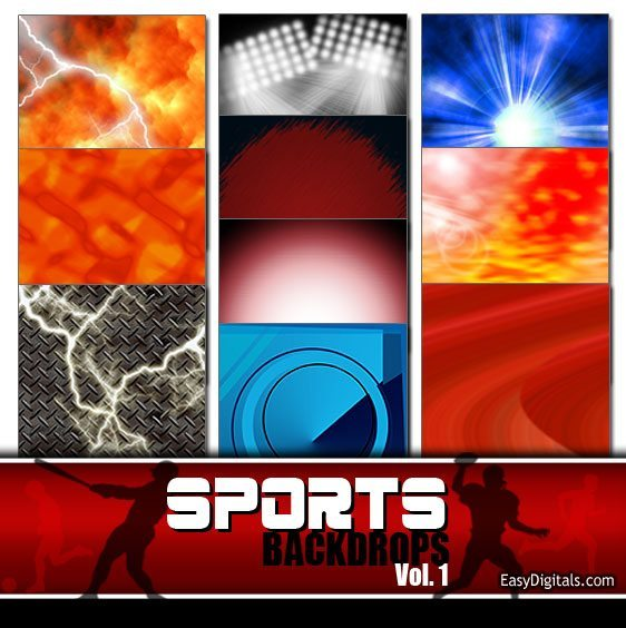 Sports Backdrops Vol. 1 8 x 10 tiff Backgrounds Digital