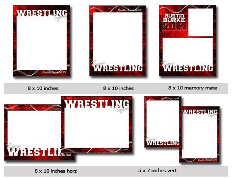 Wrestling Template Photoshop & Elements