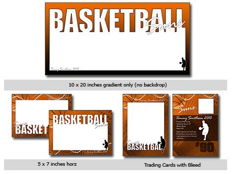 Basketball Template Photoshop & Elements