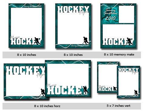 HockeyTemplate Photoshop & Elements