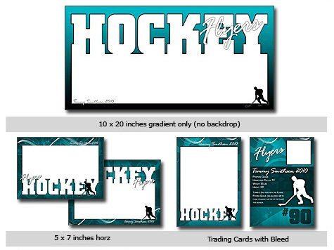 Sports Hockey Cutouts Vol 11 Photoshop Elements Templates – Hockey Templates Free