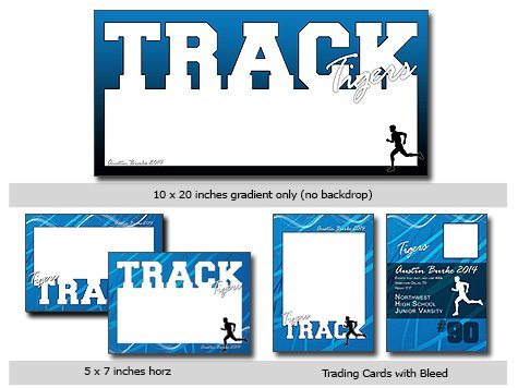 Track CUTOUTS Template Photoshop & Elements