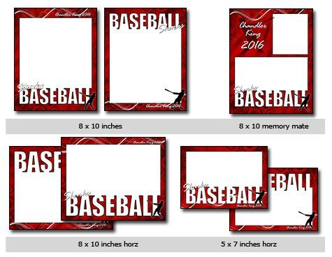 sports baseball vol 4 phototshop and elements templates. Black Bedroom Furniture Sets. Home Design Ideas