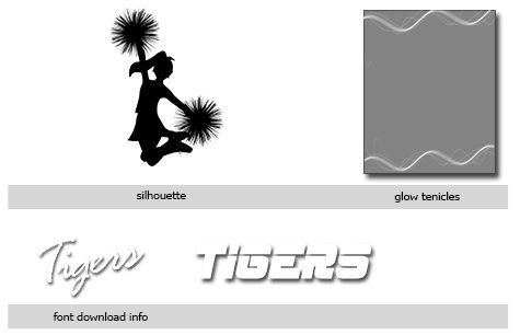 Cheer Cutout Templates Photoshop