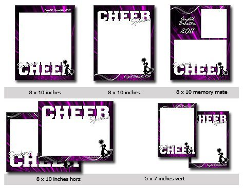 Cheer Cutout Template Photoshop & Elements