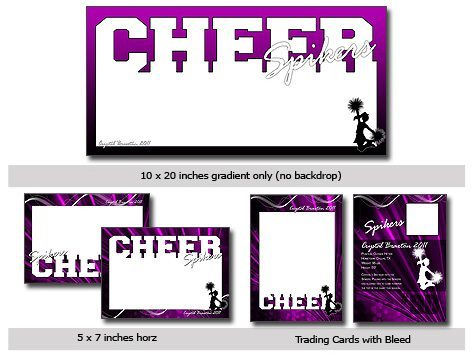 Cheer Cutouts Template Photoshop & Elements