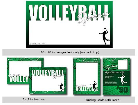 Volleyball Template Photoshop & Elements