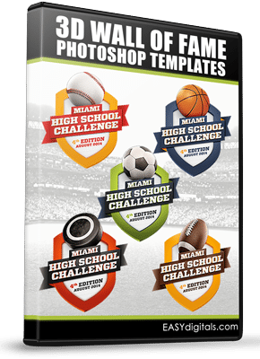 3D WALL OF FAME PHOTOSHOP TEMPLATES BOX