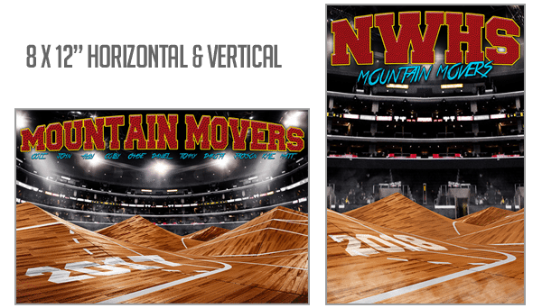 Basketball Mountain Movers Background Photoshop