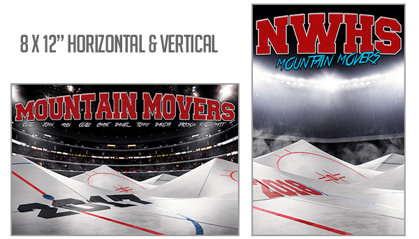 Hockey Mountain Movers Background Photoshop