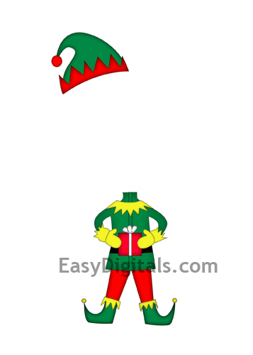 This is a photo of Crafty Elf Yourself Printable